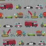 Around Town Traffic By Nutex Fabric Cotton 80320 Colour 4 grey