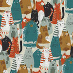 Cats By Sevenberry Fabrics 850305 Col.1. Multi Cats.