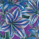 Kaffe Fassett Collective for Free Spirit August 2020 PWP J104.Blue Amaryllis
