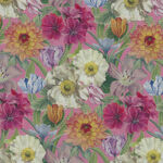 """Melody Blooms Liberty Tana Lawn Width 53"""" 036300121B Color Multi On Pink."""