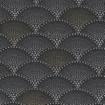 Mixed Metals By Hoffman Fabrics HQ4519 004M Black/Gold/Silver