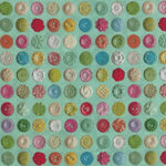 Moda Flea Market Mix by Cathe Holden MD7356-15 Green Buttons.