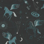Mystical Astro Pegasus From Cotton+Steel CSEE100-TE1 Colour Deep Navy with Teal.