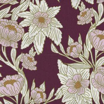 365 Fifth Avenue From Art Gallery Fabrics FAV95843 Bergundy