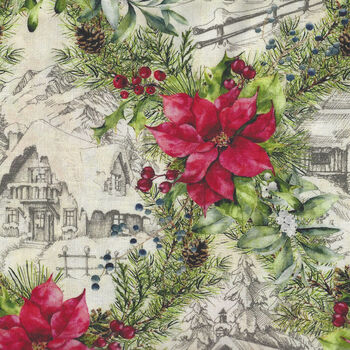 A Poinsettia Christmas By Jason Yenter For In The Beginning Fabrics 3APW 1
