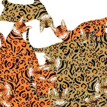 Alexander Henry Fabric Kenyon Cat  De Leon Design Group 8801A