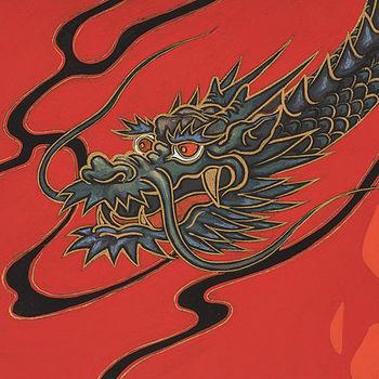 Alexander Henry Fabrics Indochine Golden Tatsu Dragon M8698 CR