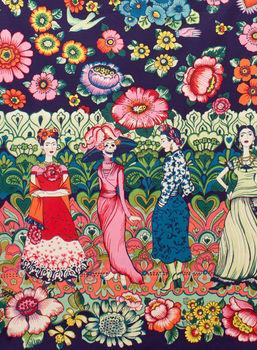 Alexander Henry Frida La Catrina Cotton Fabric 7290C Pink