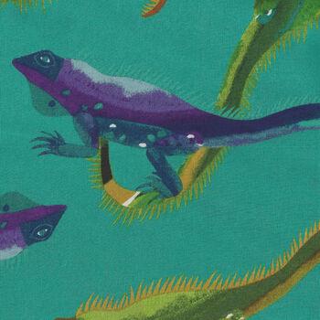 Alexander Henry I Wanna Iguana Fabric 8812 Color C Teal