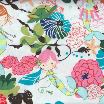 Alexander Henry If I Were A Mermaid Cotton Fabric 8250 Natural Pool