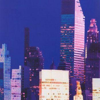 Alexander Henry andquotBig Cityandquot Dark Blue 8225