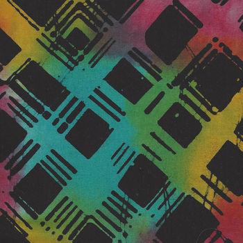 Anthology Batik Cotton Fabric 807Q12 BlackMulti
