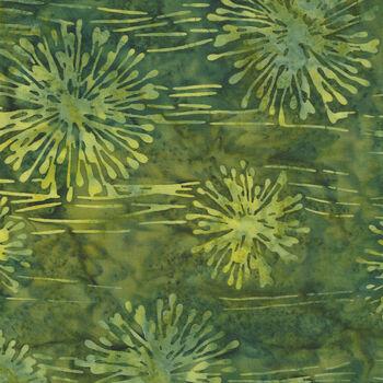 Anthology Batik for Fern Textiles 2145QX green Poker Night