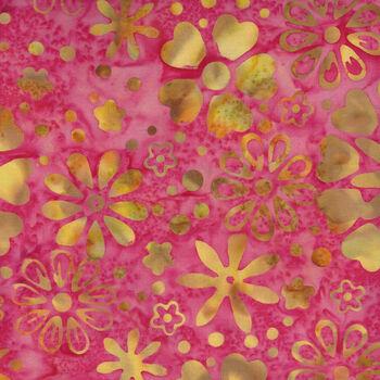 Anthology Batik for Fern Textiles 3040QX Pink Jacqueline De Jonge
