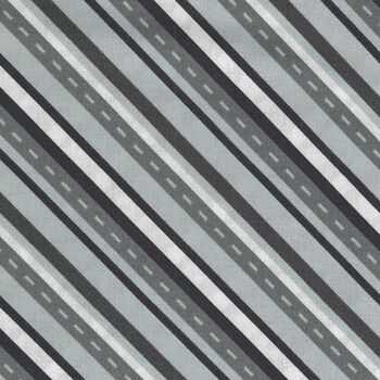 Around Town By Whistler Studios For Windham Fabrics 518391 BlackGrey Roads