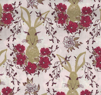 Art Gallery Fabrics Forest Floor Rabbit FOR37702 In The Thicket Dawn