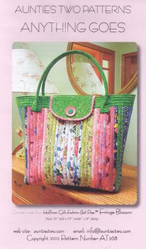 Aunties Two Patchwork Bag Pattern andquotAnything Goesandquot