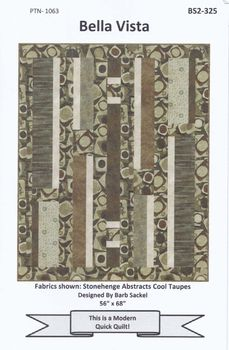 BELLA VISTA  MODERN QUICK QUILT BY BARB SACKEL