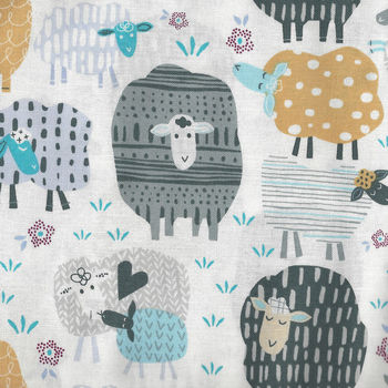 Bah Bah Baby by Windham Fabrics 50829 Colour 1 Sheep