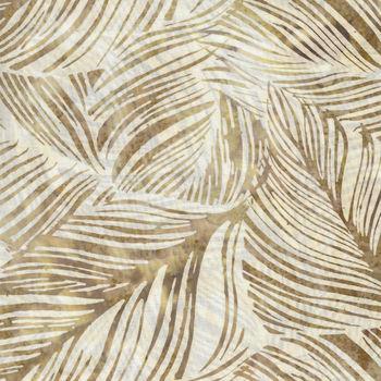 Bali Handpaints by Hoffman HQ2138 487 Large Leaf Color Boardwalk