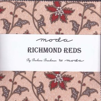 Barbara Brackman Richmond Reds 5andquot Precuts for Moda