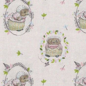 Beatrix Potter Peter Rabbit Fabric by Visage 2565 D5 Hedgehog
