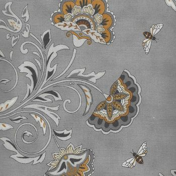 Bee Joyful by Deb Strain for Moda Fabrics M1987113 Grey