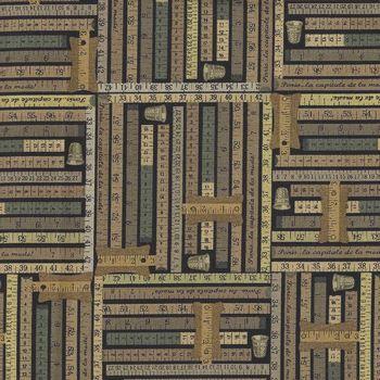 Benartex Sew Vintage Cotton Fabric  06020 Colour 12