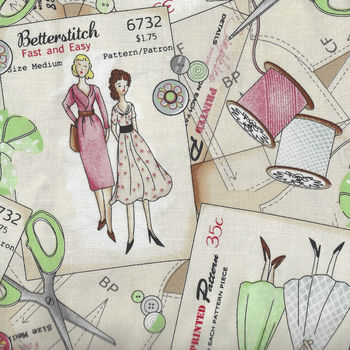 Betterstitch for Blank Textiles Pattern 9383 Color 41 Vintage Sewing Theme