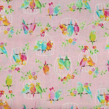 Birds by KOKKA Fabrics Cotton IGA20170 1B11