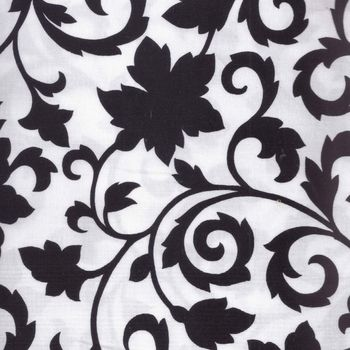 Black and White andquotJet Setterandquot Patchwork Fabric by Marcus Fabrics