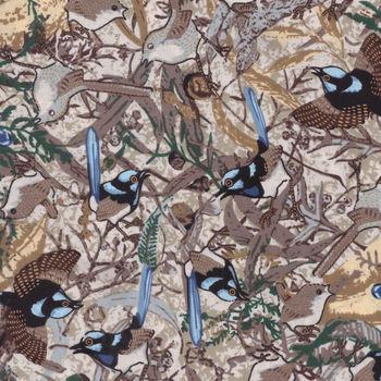 Blue Wren by Marion Chapman for MandS Textiles