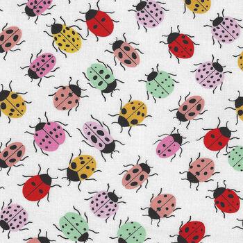 Boardwalk Bugs From Alexander Henry Fabrics 8726A  White Multi