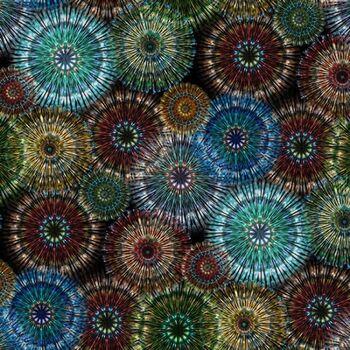 Bohemian Blends By Hoffman Spectrum Prints Digital 4754 Col130 Multi