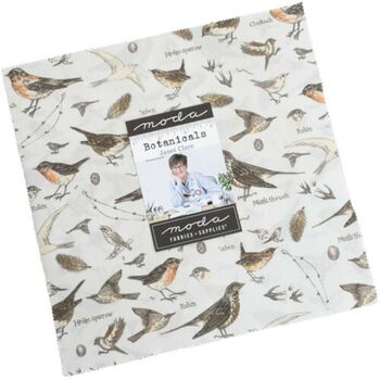 Botanicals Layer Cake by Janet Clare For Moda Fabric 42 x 10 Squares 16910LC