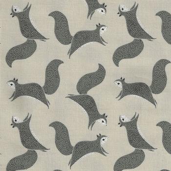 Bramble By Gingiber For Moda Fabrics M48283 14 CreamGreyBlack Squirrels