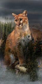 Call Of The Wild Hoffman Spectrum Digital Panel HQ4490 141 Puma Pine 23 x 43