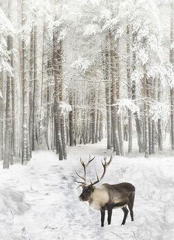 Call Of The Wild Hoffman Spectrum Digital Panel HR4562 015 Reindeer Powder 29 x 43