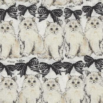 Cats By Sevenberry Fabrics 850321 Col1 BlackCream