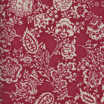 Chafarcani By French General For Moda Fabrics M1385011  Lighter RedCream