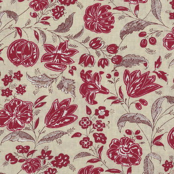 Chafarcani By French General For Moda Fabrics M1385312  RedLight Taupe