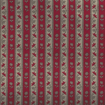 Chafarcani By French General For Moda Fabrics M1385417  Deep TaupeRed