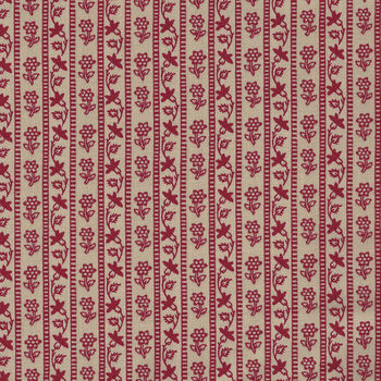 Chafarcani By French General For Moda Fabrics M1385419  Deep CreamRed