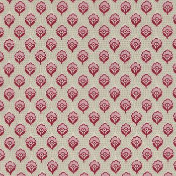 Chafarcani By French General For Moda Fabrics M1385612 PinkRedBeige