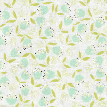 Chantilly Fabric by Fig Tree Quilts for Moda M2034616 Colour Soft WhiteGreenMint