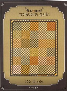 Civil War Quilt Pattern 100 Blocks by Clothesline Quilts