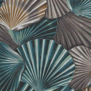 Coastal Drift by Hoffman Fabrics Seashells P7622  SeasideSilver