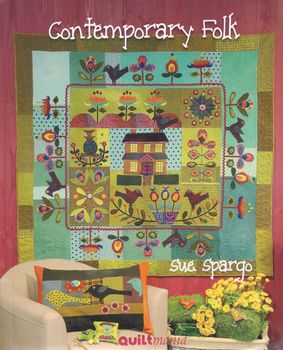 Contemporary Folk by Sue Spargo for quiltmania