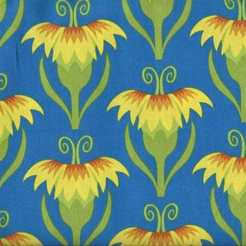 Cool Breeze by Jane Sassaman for Free Spirit PWJS 087 Yellow