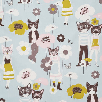 Cool Cats From Alexander Henry Fabrics  8762 ER  Duck Egg